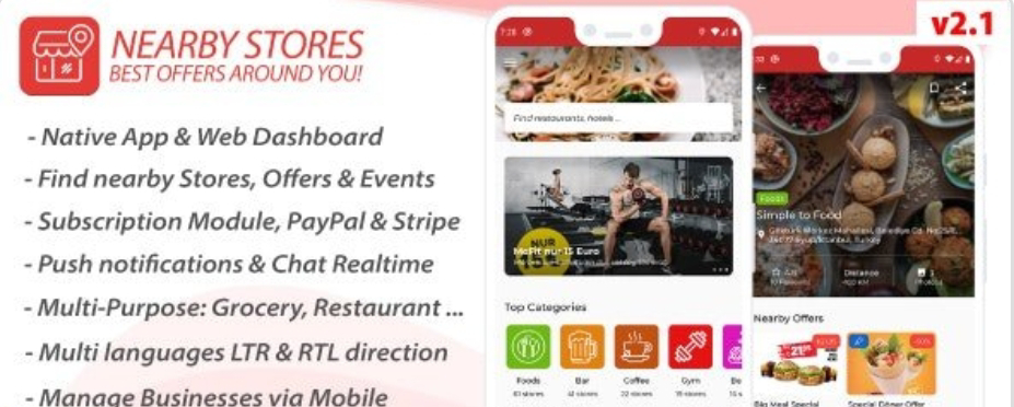 Nearby Restaurant Stores App Source Code