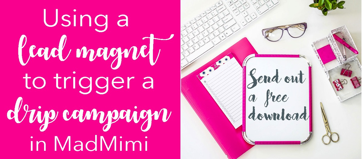 Using a lead magnet to trigger an email campaign