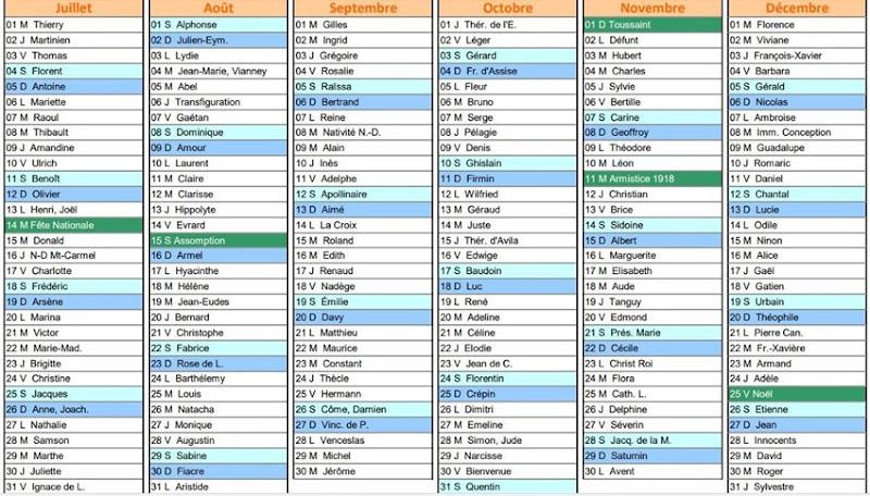 calendrier 2020-2