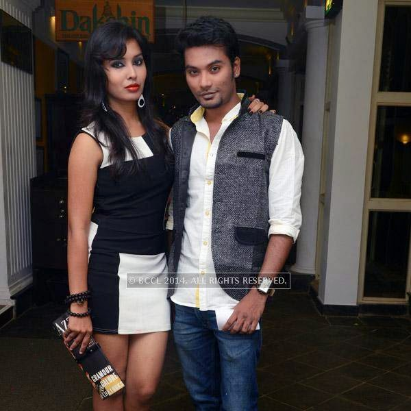 Priyanka and Karthik at the 12th anniversary party of Dublin, held at Sheraton Park and Towers.