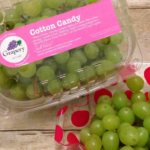 cotton candy flavored grapes