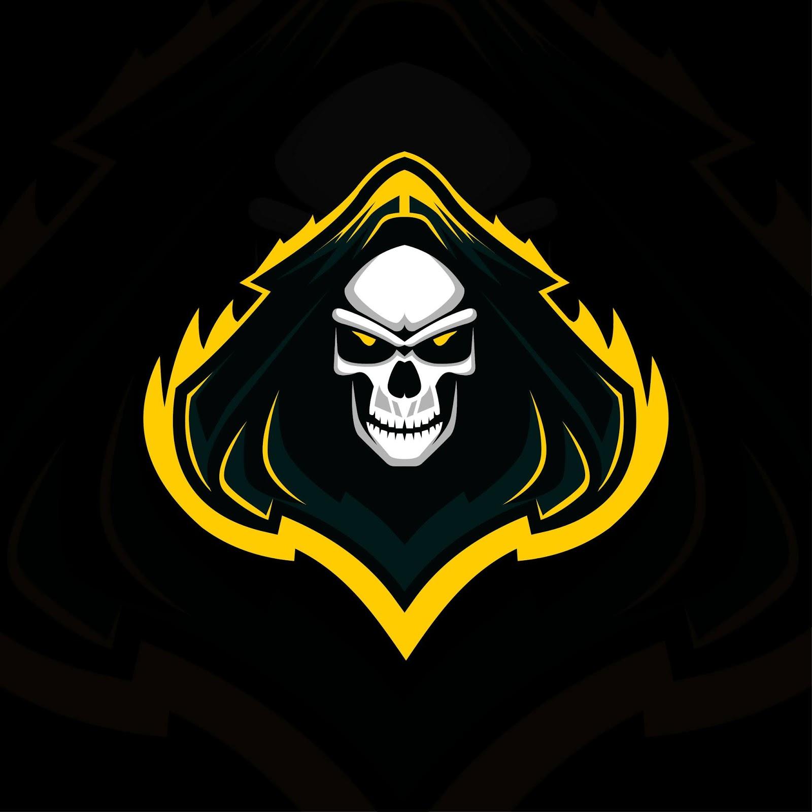 Head Reaper Mascot Logo E Sport Design Free Download Vector CDR, AI, EPS and PNG Formats