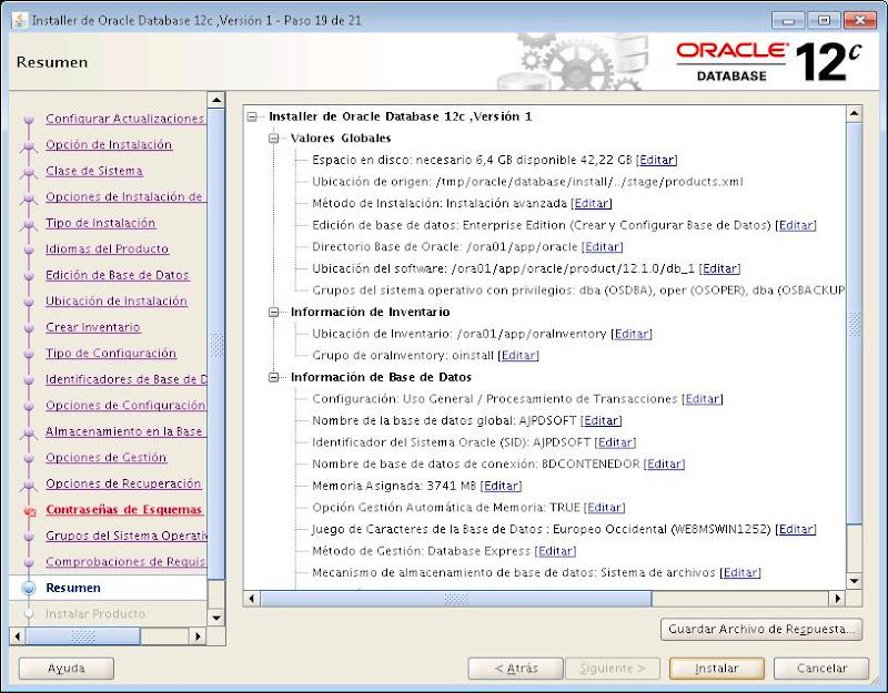 Instalar Oracle 12c en Linux CentOS 7