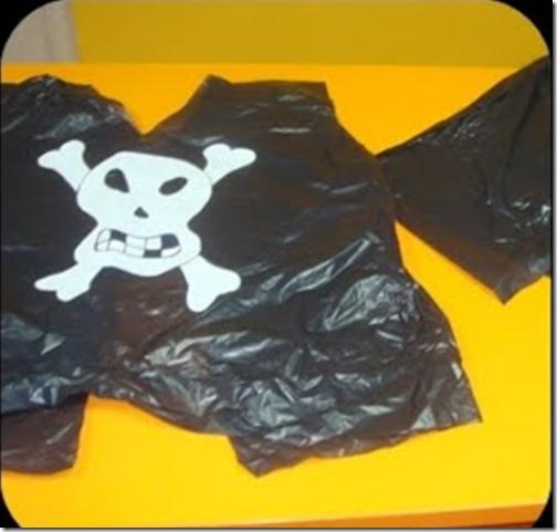 disfraz pirata bolsa basura