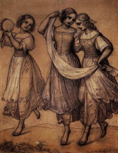 Marie Ellenrieder - Drei tanzende Mädchen