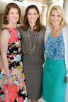 Gini Florer, membership chairwoman Melanie Jackson and Jessica Thackston.