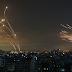 CONFLITO: veja a impressionante foto que mostra luta entre Domo de Ferro de Israel e mísseis do Hamas