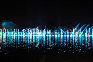 Chorros de agua de la Wrocławska Fontanna (Wroclaw)