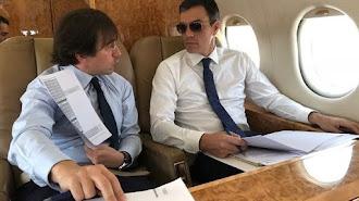 Imagen de archivo de Pedro Sánchez en el avión presidencial.
