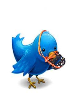 Tweetie mit Maulkorb
