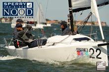J/70 sailing fast downwind- spinnaker