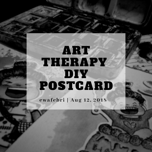 art therapy ideas diy postcard