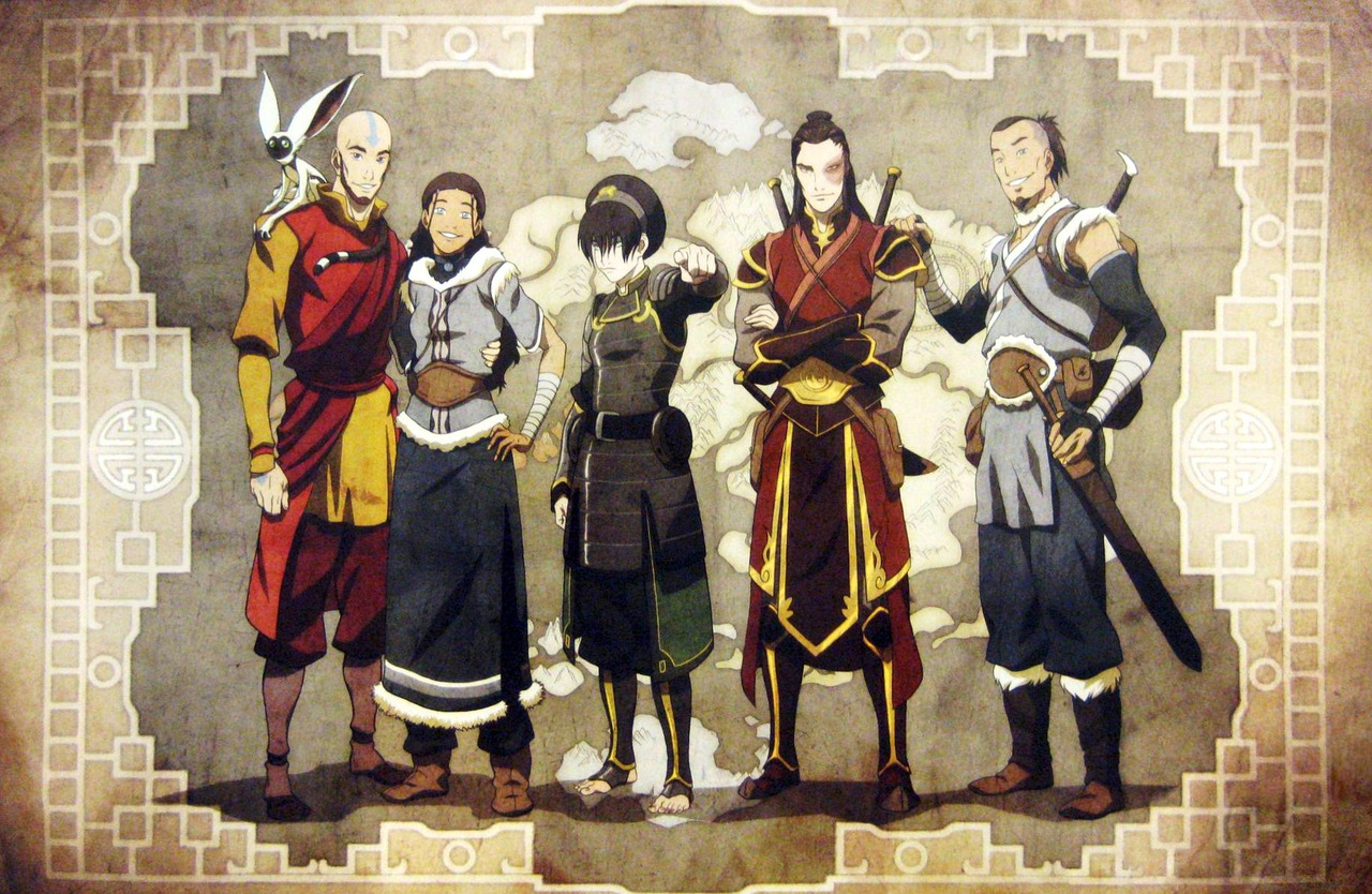 avatar old friends aang korra