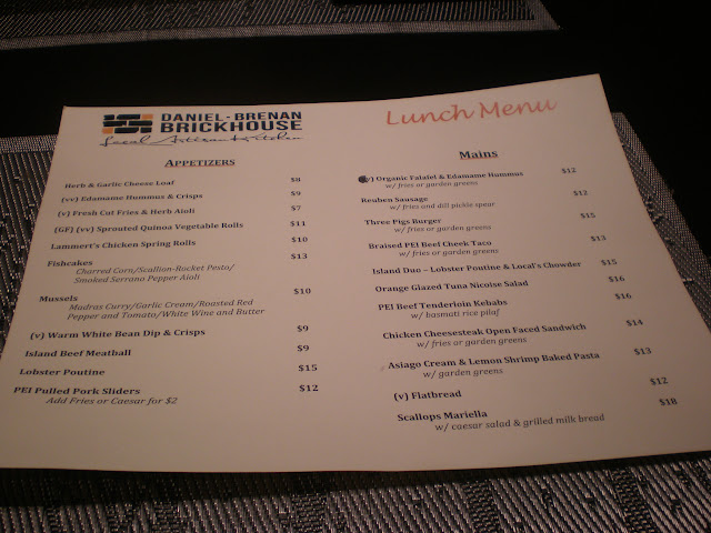 The lunch menu at DB Brickhouse (click to zoom in.)