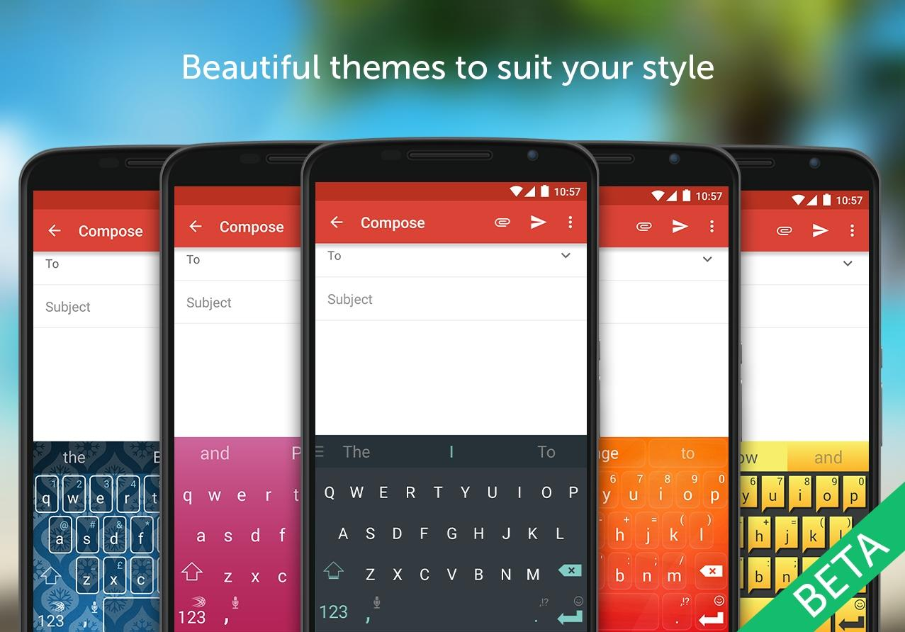 SwiftKey Beta- screenshot