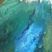 Landschaftliches, 1996. �l auf Leinwand, 111 x 76 cm. Euro  3.900,-