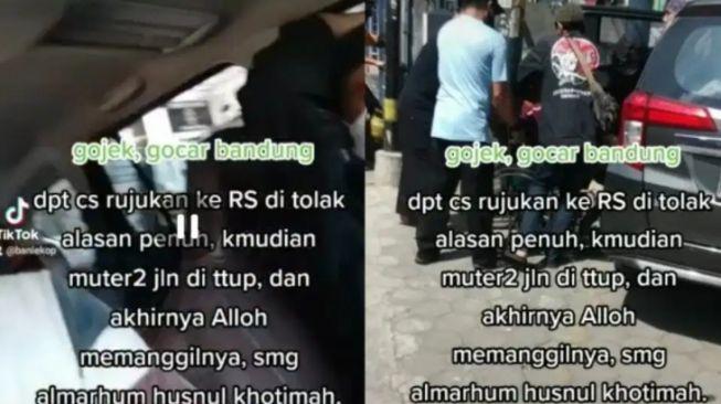 Innalillahi, Seorang Ibu di Bandung Meninggal di GoCar saat Muter-muter Cari RS