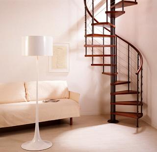 contoh tangga putar minimalis