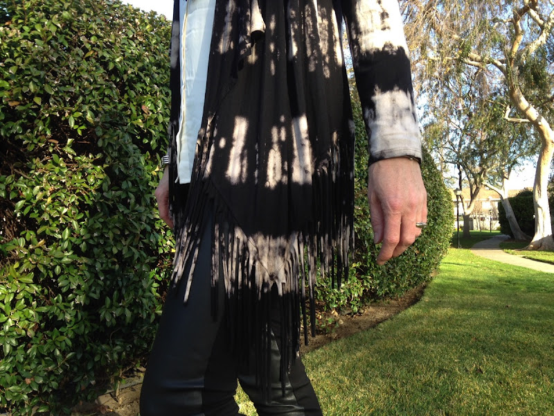 Jacket Society Tie Dye Fringe Cardigan