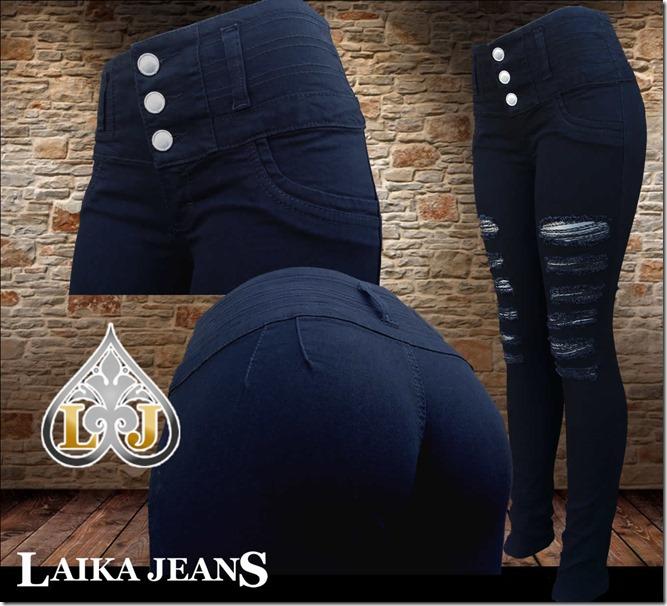 Negro con destruccion Laika Jeans