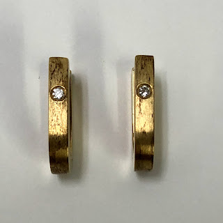 14K Gold with Diamond Earrings