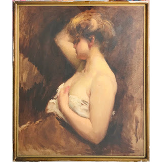 Profile Portrait Oil Painting