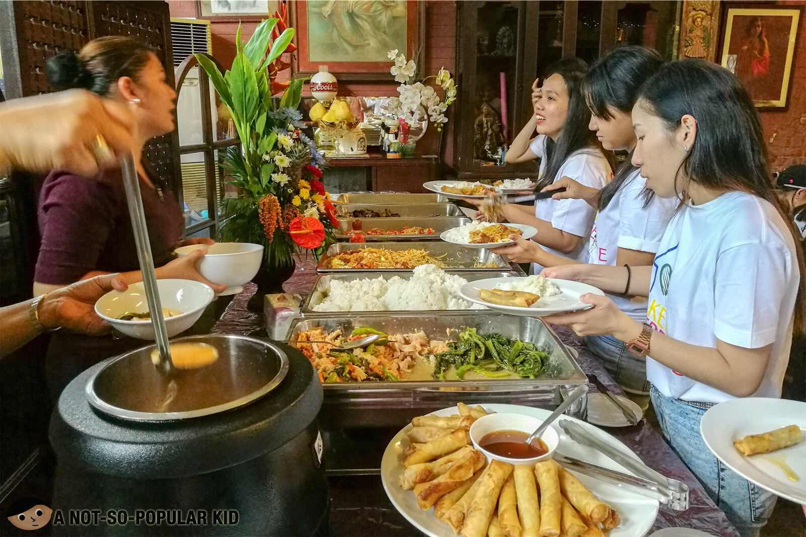 Lunch Buffet in Bahay Ligaya Restaurant, Quezon City