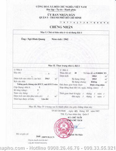 Bán nhà Trần Bình Trọng, Quận 5 giá 25 tỷ - NT122