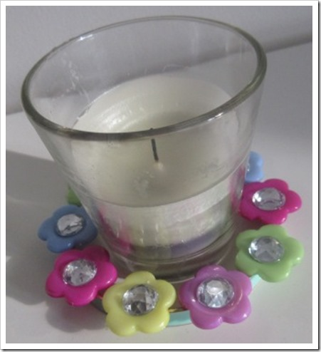 votive candle decoration