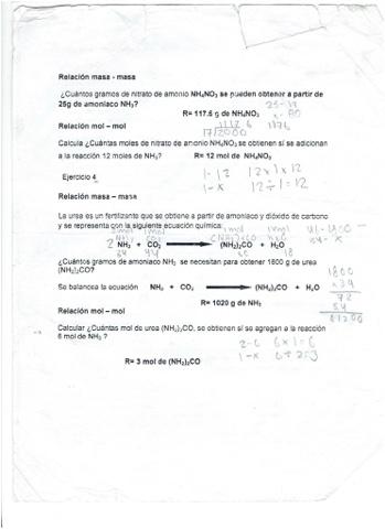 Crucigrama. Estequiometría. | Química 1