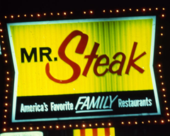 Typical 1970's Mr. Steak sign via Google Images