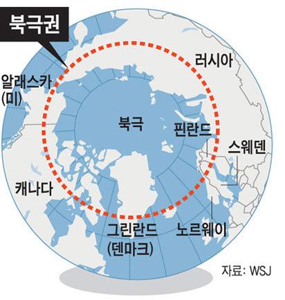 북극권 지도