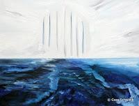 """""""Der Himmel ist uns näher als wir glauben"""", Öl auf Leinwand, 90x70, 2005"""