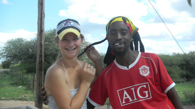 Theresa has a new friend, Christmas Mochudi 2011