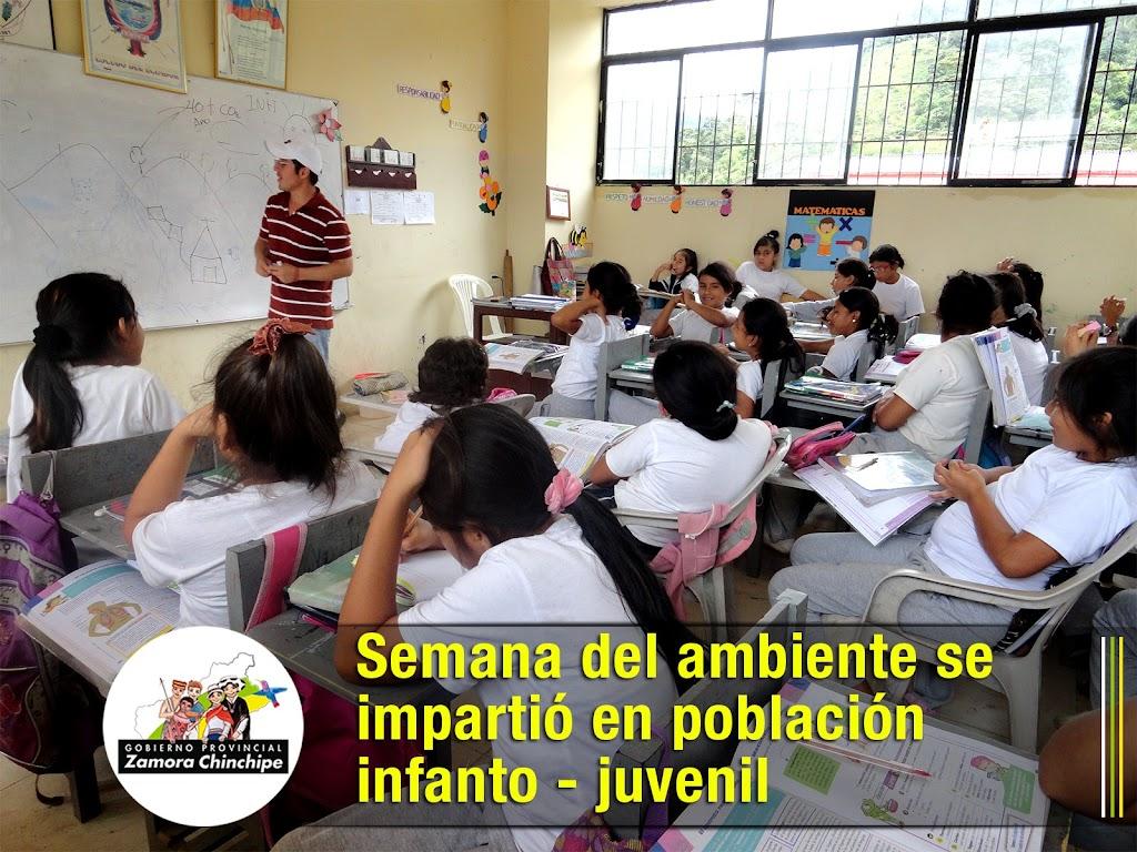 SEMANA DEL AMBIENTE SE IMPARTIÓ EN POBLACIÓN INFANTO - JUVENIL.
