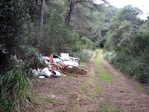 Photo: Caminet al costat de la carretera de Sa Roca