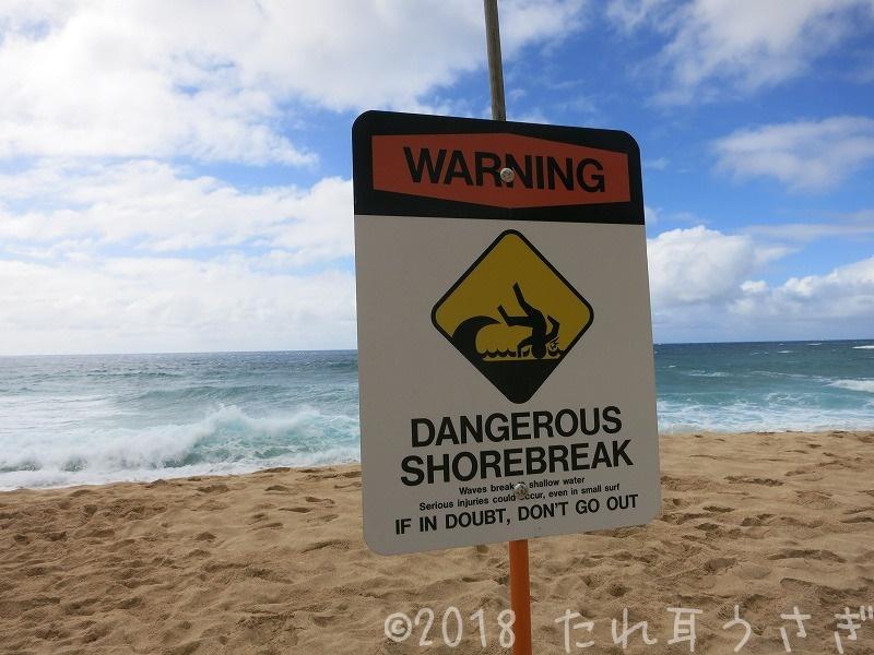 ハワイ旅行㉚ エフカイビーチパーク('Ehukai Beach Park)に行ってきたのでレビュー・駐車場
