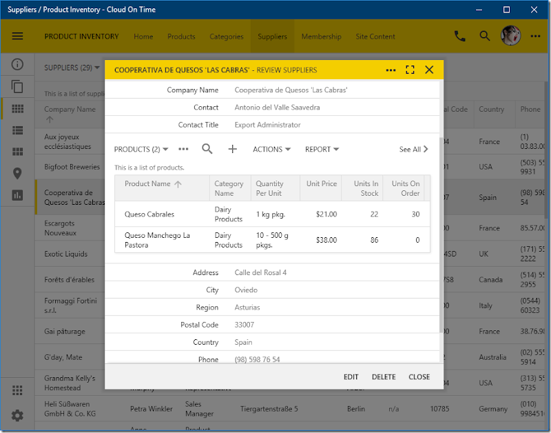 Cloud running locally in native Universal Windows Platform app Cloud On Time.
