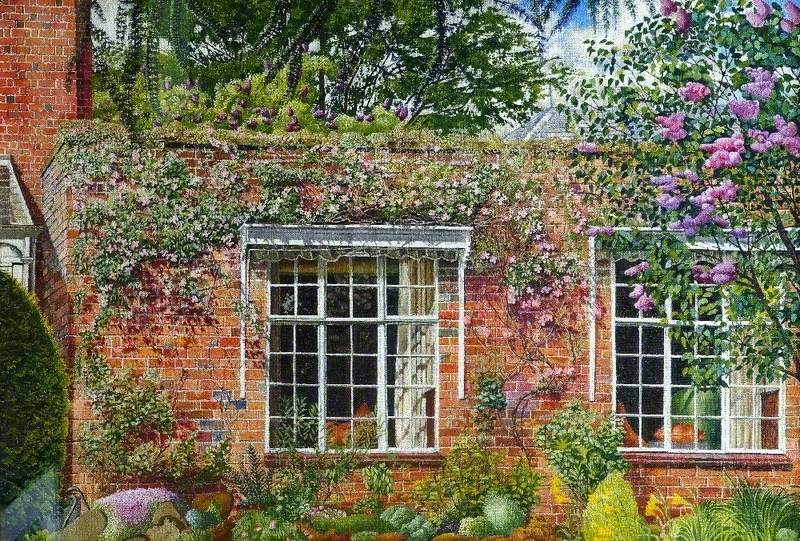 Stanley Spencer - Lilac and Clematis at Englefield