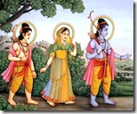 [Rama, Sita and Lakshmana in forest]