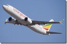 Un aereo della compagnia Ethiopian Airlines