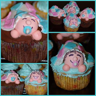 Baby Shower Cupcakes & Chocolate Sour Cream Ganache Recipe