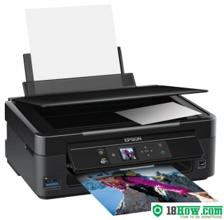 How to reset flashing lights for Epson SX235 printer