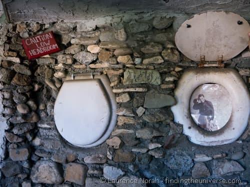 Nitt Witt Ridge house Cambria California toilet frames