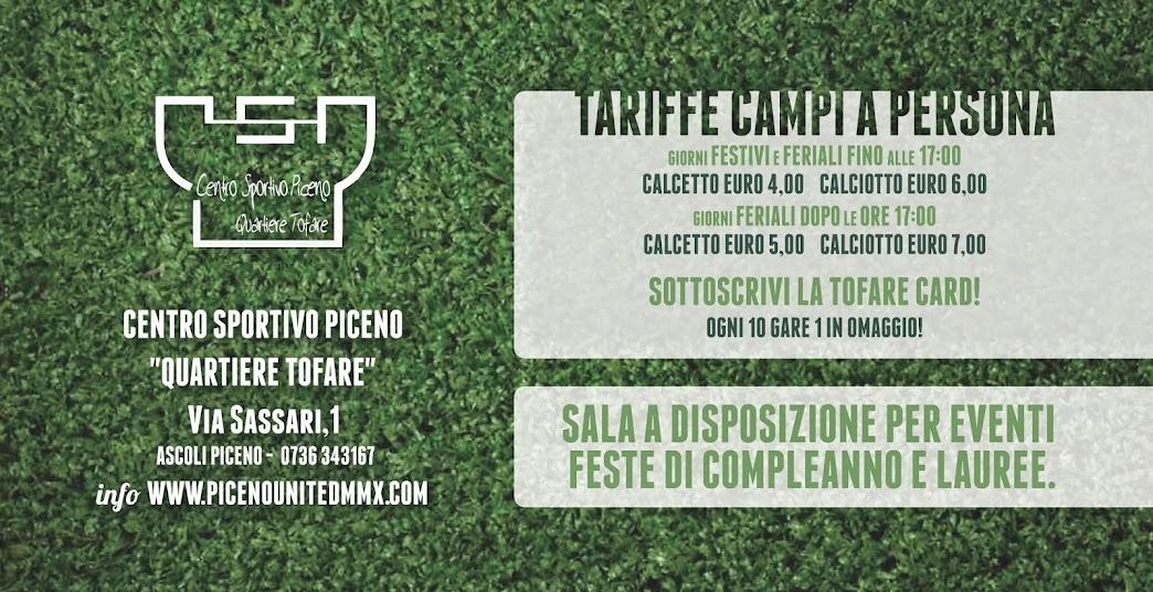 2014 - Tariffe Campi