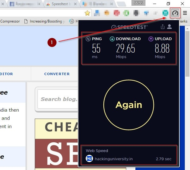 speedtest.net chrome extension demo