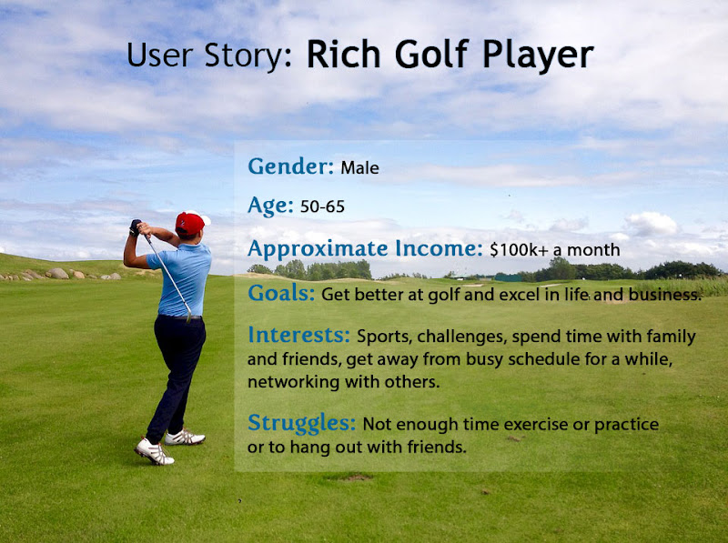 User Story ID Card: Rich Golf Player