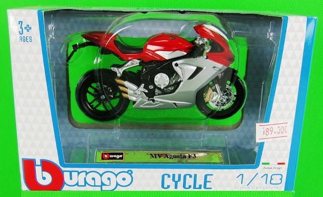 Sản phẩm MV Agusta F3 DieCast Motorcycle Model Scale 1:18 BBurago