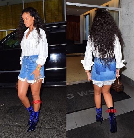 Rihanna wears DSquared2, FENTY x PUMA at Christening