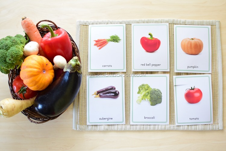 Montessori Inspired Vegetable Activities for Kids (Part 1)